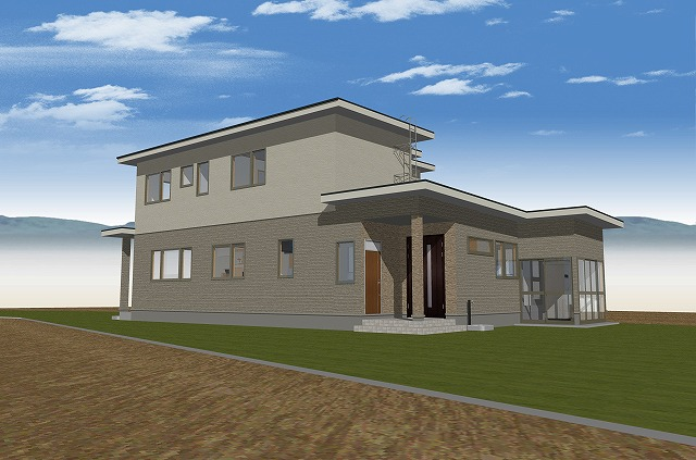 """""""ゆとりある収納と多様な設備機器のある家"""""""